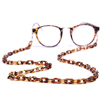 Leopard Acrylic Sunglasses Chain Chic Women Anti Slip Reading Glasses  Eyewears
