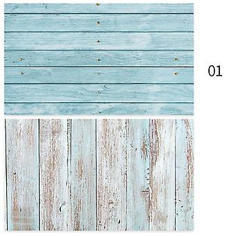 Pvc Photography Wood Printing Backdrops, Waterproof, Marble Background