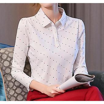 Pitkähihaiset toimistotyöt pukeutuvat naisten paitaan