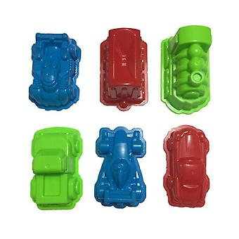 6 Pcs Car Suit Power Playing Space Playing Sand Mold