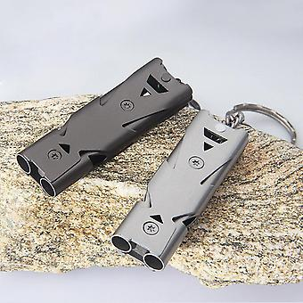 IPRee Outdoor Double Tube 150db Whistle Camping Survival Stainless Steel Apito Sounder