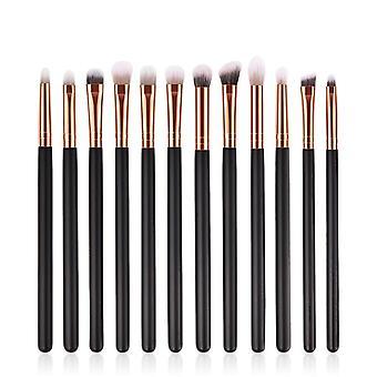 Wood Handle Eyeshadow Eyebrow Eyeliner Blending Powder Smudge Brush