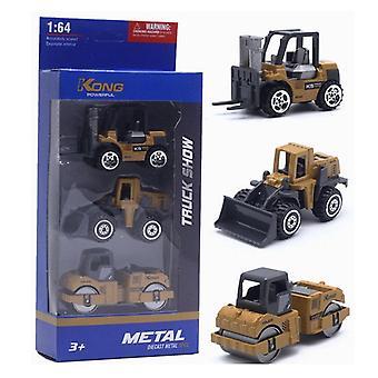 3pcs/set Alloy Engineering Vehicle Excavator Forklift Model Cars Set