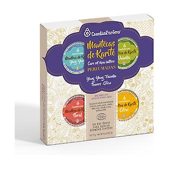 Pack of scented shea butter 4 units of 15g
