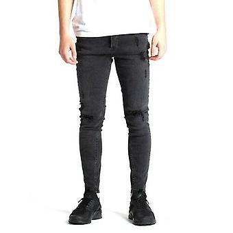 Reis vão sonhar meninos romer preto rasgado jeans skinny