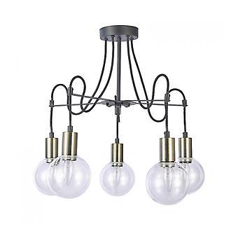 Lámpara De Techo Moderna Gianni Bronce Antiguo, Negro