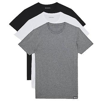 Diesel Randal 3 Pack T-paita - Musta/Harmaa/Valkoinen