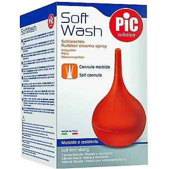 Pic Solution Soft Wash - Gummi enema spray med myk kanyle - 35ml
