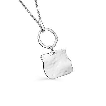 Sterling Silver Necklace Pendant - Origins Circle + Square