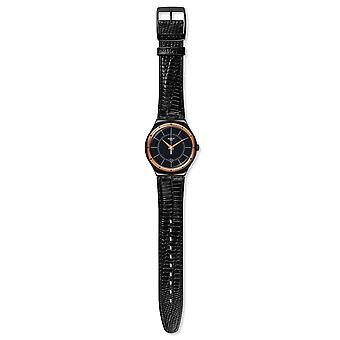 Staal zwart Nachtigall Unisex horloge YWB403