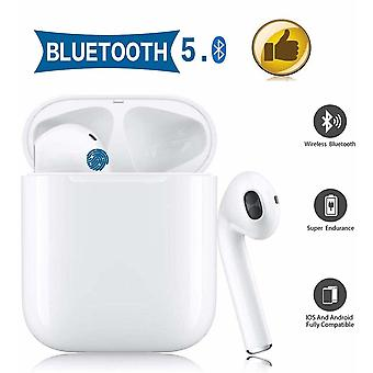 Bluetooth Earphones, Wireless Headphones, Stereo 3D Touch In-Ear Earphones with 24H Charging Case and HD Mic Noise Canceling, for Apple Airpods iPhone Samsung / Android
