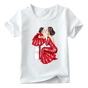 Fashion Family Look T-shirt, Koszulka Super Mom&daughter