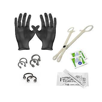 Liongothic 14ga and 16ga septum piercing kit 12 pieces