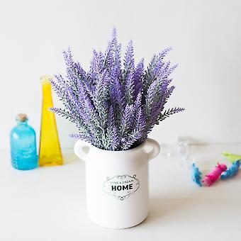 1 Bundle of artificial lavender arrangements for home decor