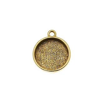 Nunn Design Antiqued Gold Plated Pewter Collage Circle Bezel 1/2 pouces