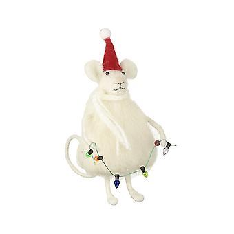 Villapukin hiiri vaalealla garlandilla