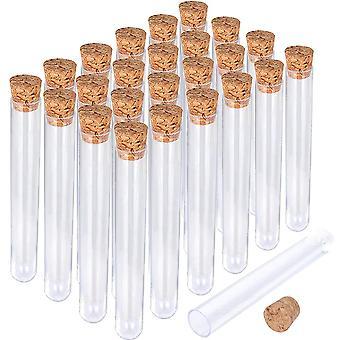 12x100mm Transparent Laboratory Plastic Test Tubes
