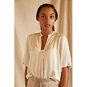 Louche Sustain Womens Sorrel Short Sleeve Top Ecru
