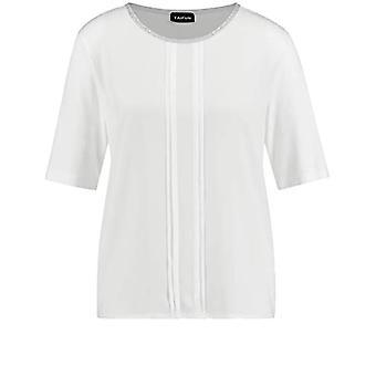 Taifun 571023-19604 T-Shirt, White, XS Woman