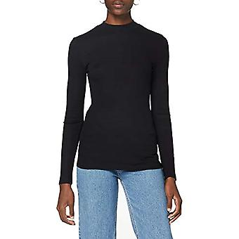 Lee High Neck T-Shirt, Black, XS Women