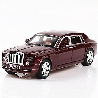 1:24 Rolls Royce Phantom Metal Car -leluseosauto Die valu ja leluauto Lapsiauto Malli lelu (ruskea)