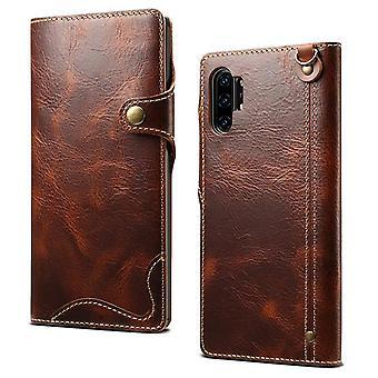 Slot per carte cassa portafoglio in vera pelle per iphone11pro 5.8 marrone no961