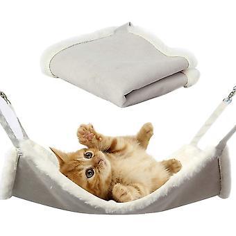 Katzen Hängematte, Hängematte mit flauschigem und weichem Pelz für Katzen Kleintier
