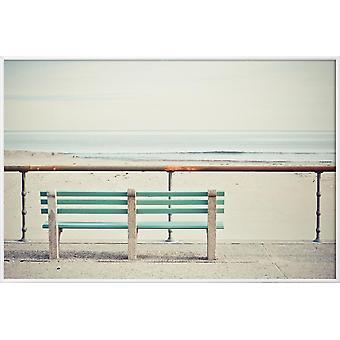 JUNIQE Print - Främre raden - Beaches Poster i Brunt & Cream White