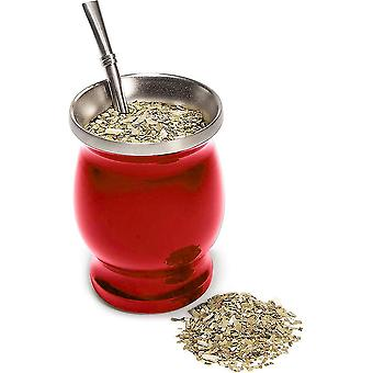 أحمر 8 أوقية yerba mate كأس الشاي الغورد الطبيعية تعيين مع 1 بومبيلا cai133