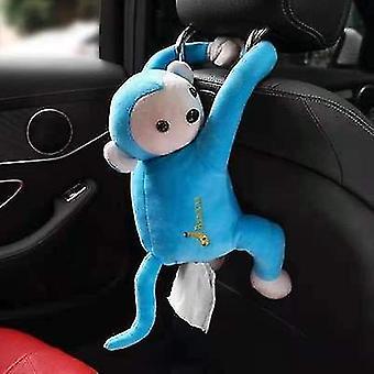 Blue pippi monkey paper napkin case cute cartoon animals car paper boxes x2760