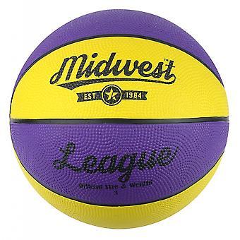 Midwest League Basketball Yellow/Purple Size 3