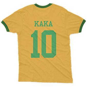 Kaka 10 Brasilien land ringer t-shirt