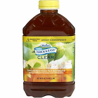 Hormel Thickened Beverage Thick & Easy 46 oz. Container Bottle Iced Tea Flavor Ready to Use Honey Consiste, Iced Tea - Honey 1 Each