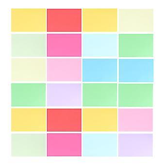 100шт Цветная копировальный бумаги Diy Ручная работа Бумага Ручная работа Складывание бумаги для детей Размер A4 (смешанный 20 цветов)