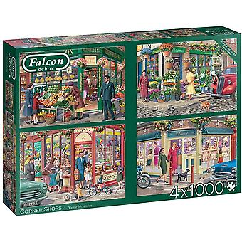 Falcon Deluxe Corner Shops palapeli (4 x 1000 kappaletta)