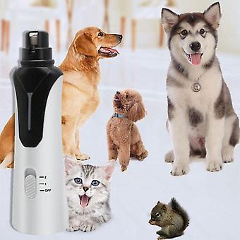 Επαναφορτιζόμενο κατοικίδιο σκυλί γάτα νυχιών μύλος και κουρευτική μηχανή 2-ταχύτητα ηλεκτρικό κατοικίδιο ζώο καρφί