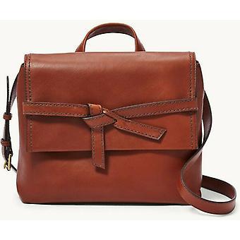 Fossil Willow Leather Crossbody Brandy Brown Handbag SHB2324213
