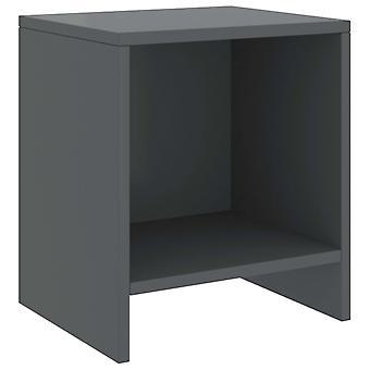 vidaXL Bedside Table Dark Grey 35x30x40 cm Pine solid wood