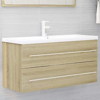 vidaXL lavabo base armadio Sonoma rovere 100x38,5x48 cm truciolato