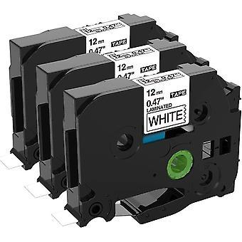 Kompatibel Schriftband als Ersatz für Brother PTouch Bänder TZe 12mm 0.47 White TZe-231 Laminiert