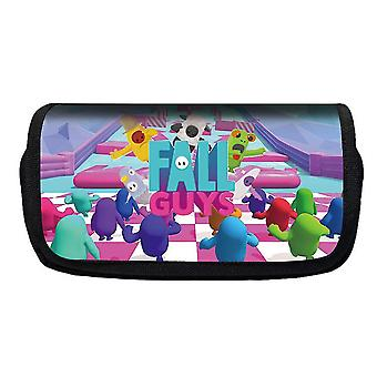 Jelly Bean Fall Guys Double Flap Pencil Case Polyester Enfant(Couleur-7)