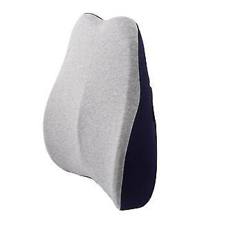 Memory Foam Backrest Office Seat Backrest Pillow(Darkblue)