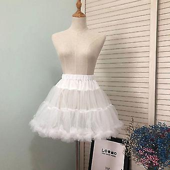 Petticoats pettipants jenter ruffled kort petticoat solid fluffy boble tutu skjørt puffy halv slip