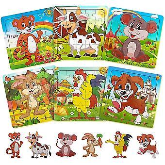 Puslespil til børn i alderen 3-5 træ puslespil