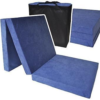 Makuupatja - tummansininen - leirintäpatja - matkapatja - taitettava patja - 195 x 70 x 8