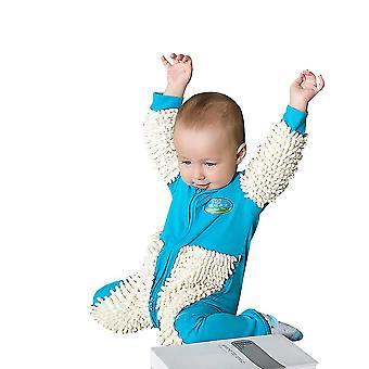 Baby Mop Romper Outfit Ползающая Footie Комбинезон Мальчики Девочки Полы Чистка Швабры Одежда