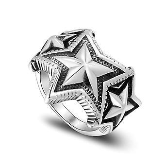 Personalità Cinque punte Indice Stella Dito Anelli Maschili Multi-star Sovrapposizione Titanium Steel Ring Sa946