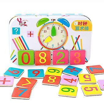 Bâton de comptage magnétique numérique en bois Jouets éducatifs pour enfants Éducation précoce Jouets mathématiques et arithmétiques