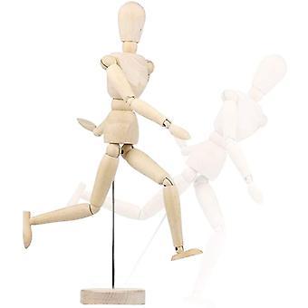Figurína 8-palcový Umelec Drevená figurína flexibilné spoje Skicovací model