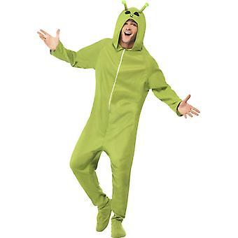 Alien Kostüm grün Overall Außerirdischer Alienkostüm